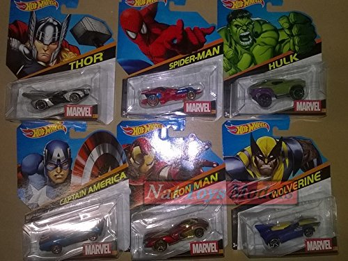 Hot Wheels Veicoli Marvel Figures Complete Collection Vehicles Pz.6 1:64 DIECAST Compatible con