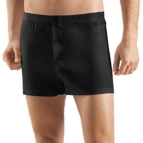Hanro Herren Sea Island Cotton Boxershorts, Schwarz (black 0019), 52 (Herstellergröße: L)