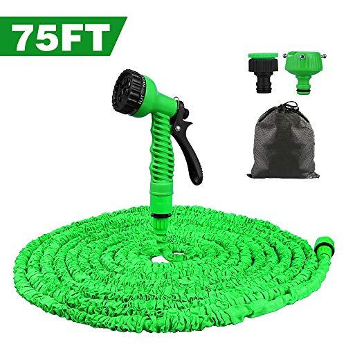 VEGKEY Flexibler Gartenschlauch,75FT 22.5m Flexischlauch Gartenschlauch Wasserschlauch Gartenschlauch mit 8 Funktionen Flexible Dehnbar für Gartenbewässerung, Reinigung und Autowäsch