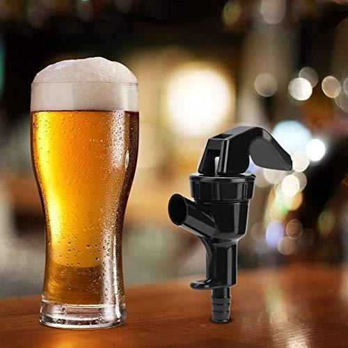Duokon Grifo de Cerveza, 5 Piezas de Grifo de plástico Negro para Cerveza de Barril Homebrew, Cocina, Barra, Picnic, dispensador de líquido (se Adapta a 3/16 en Tubo)