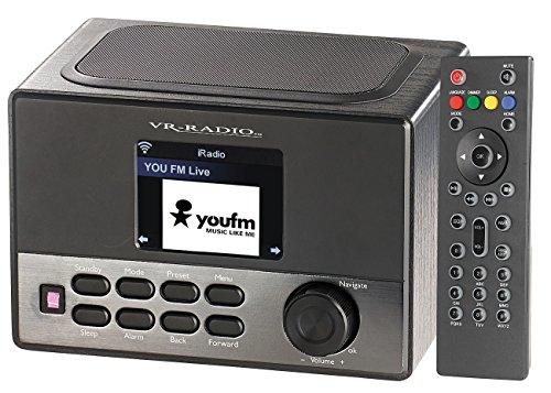 VR-radio internetradio box: WLAN-internetradio met wekker, USB-laadstation, 8 watt, 7,2 cm TFT (IP radio)