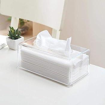 Kuizhiren1 - Caja de papel para pañuelos, transparente: Amazon.es: Hogar