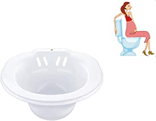 Xinjiahe Sitz Baths,Portable Bidet for Standard Toilet,Healthcare Personal Washing Bidet Bowl Toileting Aid for The Elderly, Ideal for Post-Episiotomy Patients and Pregnant Woman,White