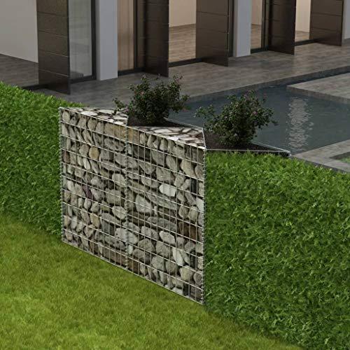 Binzhoueushopping Gabion cages pour conserver Wall-gabion Panier/pot de fleurs/légumes surélevé Lit en acier 150 x 30 x 100 cm
