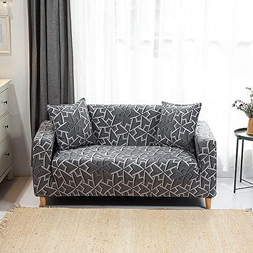 Funda de sofá geométrica elástica para Sala de Estar, sofá de Esquina seccional Moderno, Funda Protectora para sofá, Protector de Silla A22, 3 plazas