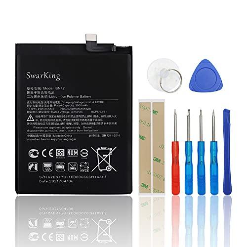SwarKing Batería de repuesto compatible con Xiaomi Redmi 6 Pro/Mi A2 Lite M1806E7TG, M1806E7TH, M1806E7TI BN47 con kit de herramientas.