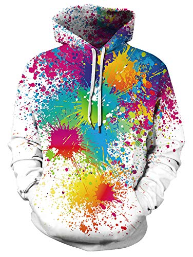 NEWISTAR Unisex Kapuzenpullover Colourful HD 3D Printed Pullover Christmas Patterned Sweatshirts for Teens Jumpers