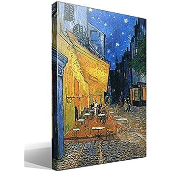 Cuadro Canvas Terraza de un Café en la Plaza Forum de Arlés por la Noche de