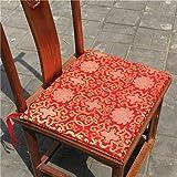 OLEEKA Cojín de Asiento Cojines de Seda Chinos Antiguos Silla de Comedor Estera de Gama Alta Cojín de sillón Decorativo clásico Cojín de Asiento