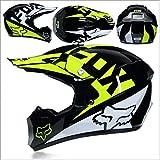 Motocross Off Road Casco Gafas de regalo Máscaras Guantes FOX Motociclismo Racing Casco integral para hombre y mujer (Color : C)