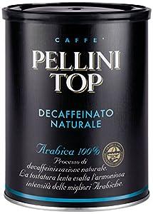 Pellini Caffè, Pellini Top 100% Arábica Para Cafetera Moka Descafeinado Natural, 1 Lata - 250 gr