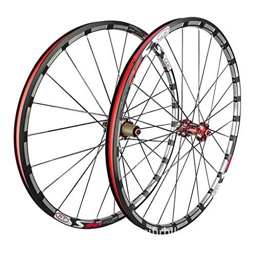 Zatnec Mountain Bike da 27,5 cm a doppia parete a sgancio rapido a disco/V-Brake MTB Rim cuscinetti sigillati mozzo in disco nero 7 8 9 10 velocità (dimensioni: 66 cm)