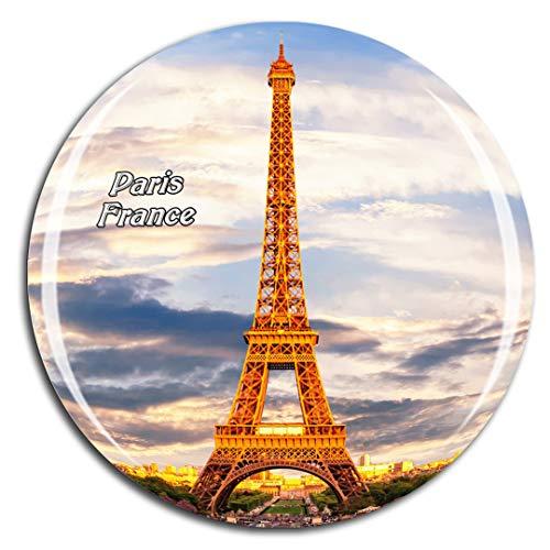 Weekino Francia Torre Eiffel Parigi Calamità da frigo 3D Cristallo Bicchiere Tourist City Viaggio Souvenir Collezione Regalo Forte Frigorifero Sticker