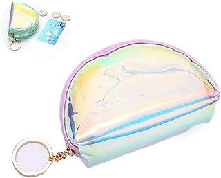Mini Coin Purse Trasparenza Zipper Portachiavi Portafoglio Pouch luminescente della borsa della moneta per ragazze adolesc...
