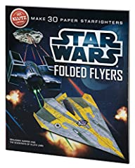 Star Wars Folded Flyers will speed through the living room as well as they do in outer space. Comes with 40 sheets of custom-designed paper, tape, 6 foldable display stands Includes a 60 page instructional book with Klutz certified crystal-clear inst...