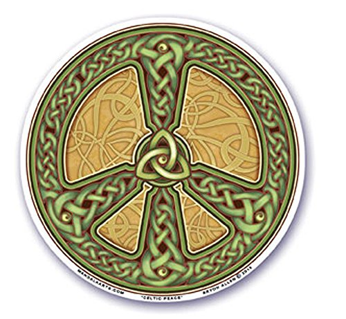 Mandala Arts Colorful Decal Window Sticker - 4.5' Double Sided - 'Celtic Peace' by Bryon Allen (S58)