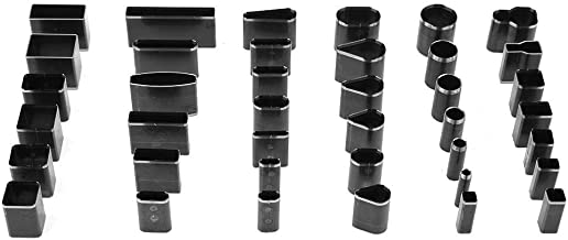 Herramienta de guía de taladro, 39 piezas de herramientas de corte de perforadora de cuero de múltiples formas, juego de punzón de cuero artesanal DIY hecho a mano