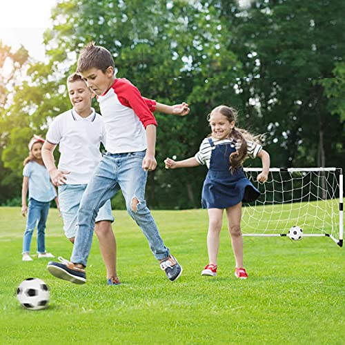 Dreamon Set of 2 Kids Football Goal Post Net with Ball Pump Indoor Outdoor Soccer Sport Games Children Training Practice Toy Set