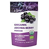 Organic Aronia Berry Powder, Not Made from Concentrate, Freeze Dried and Powdered Organic European Chokeberries, 15-Day Supply, 6 oz., Raw, no Added Sugar