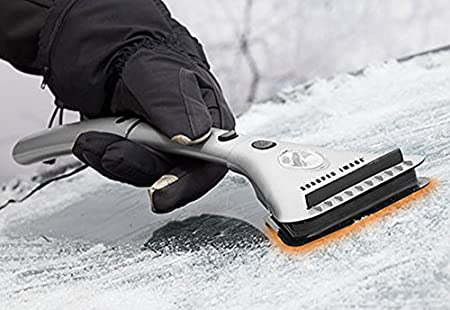 Sharper Image Heated Ice Scraper: image