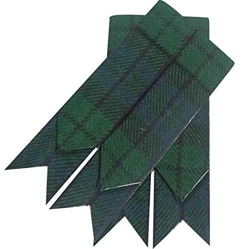 Schottische Kilt-Flashes, verschiedenen Tartanstoffe, spitz zulaufend Größe L Mehrfarbig - Black Watch