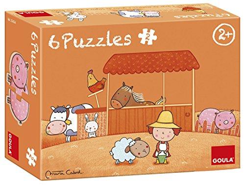 Goula 6 Puzzles de maderas infantiles de la graja