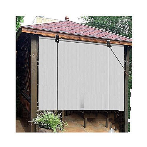 Persiana Enrollable De Red Para Sombrilla Para El Hogar Sombra De Privacidad De Terraza Sistema De Elevación Manual Para Jardín Al Aire Libre, Garaje, Glorieta ( Color : Gray , Size : 75x250cm )