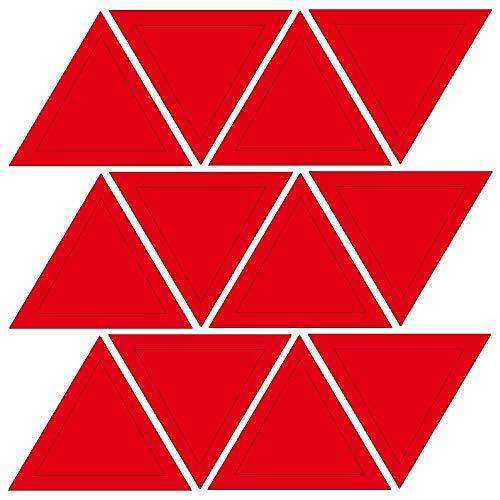 JJJee DIY Triángulo Patrón Pegatinas de Pared Sala de Estar TV Fondo de Pared Decoración de Pared Etiquetas 3 Juegos