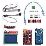 A4988 Driver Motor Drivers Set Controlador de Motor Paso a Paso con disipador de Calor Juego de Impresora 3D para R3 CH340 para Mega 2560 para Tarjeta de Memoria