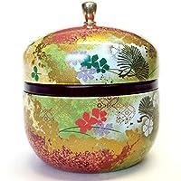 japonais Boîte à thé en étain Suzuko/double/couvercle hermétique/99,2gram (150g) Thé vert