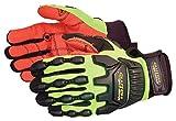 Kupplung Gear® IMPACT Schutz Ölfeld) Handschuh mit Armortex® Palm Lime Gelb XXL