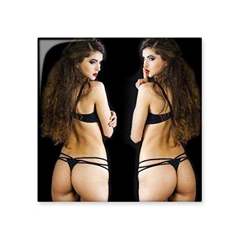 DIYthinker Zware make-up zwarte bikini broek sexy meisje gal keramische bisque tegels voor het verfraaien badkamer decor keuken keramische tegels muur tegels Small