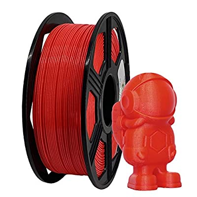YOYI ABS Plus 3D Printer Filament, ABS Filament 1.75mm 1kg Spool (2.2lbs), Dimensional Accuracy of +/- 0.02mm (Red)