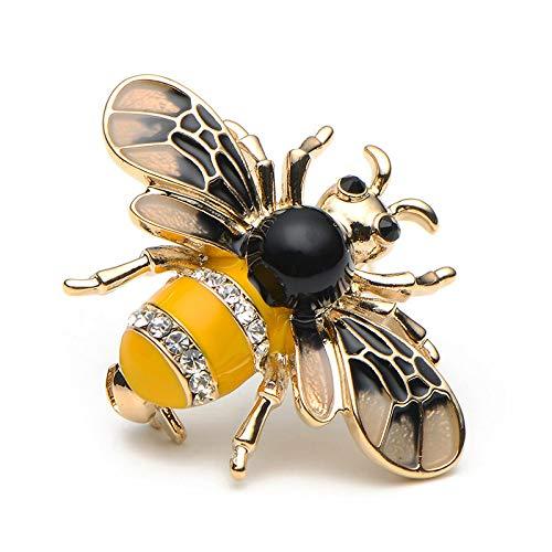 DFHTR Insekt Biene Broschen Stifte Emaille Metall Insekt Brosche Bouquet Broche Hut Kragen Manschettenstifte Party Geburtstag Geschenke Schal Kleidung Abzeichen