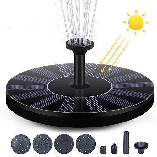 Solar Fuente Bomba 1.5W Fuente de Jardín Solar,Flotado Solar Panel Incorporada Batería...