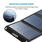 Solar Panel, Anker 21W 2-Port USB Portable Solar Charger with Foldable Panel, PowerPort Solar for iPhone 11/Xs/XS Max/XR… 10 The Anker Advantage: Join the 50 million+ powered by our leading technology Fast Charging Technology: PowerIQ delivers the charging speed up to 2.4 amps per port or 3 amps overall under direct sunlight. 21 watt SunPower solar array is 21.5-23.5% efficient, providing enough power to charge two devices simultaneously Incredibly Durable: Industrial-strength PET polymer faced solar panels sewn into a rugged polyester canvas offer weather-resistant outdoor durability