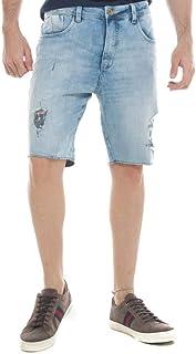 Bermuda Jeans Eventual Mid Drop Azul