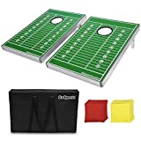 Go Pong CornHole Bean Bag Toss Game Set, Football Edition