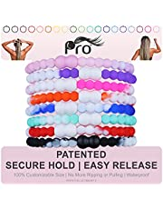 PRO Hair Tie - Easy-Release Clasp - Secure Hold - No Damage - Great for ANY Active Lifestyle (Funky Pack of 8)
