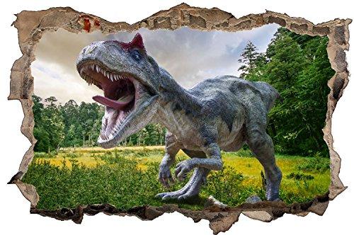 Dinosaurier Dino Wiese Bäume Wandtattoo Wandsticker Wandaufkleber D0566 Größe 100 cm x 150 cm
