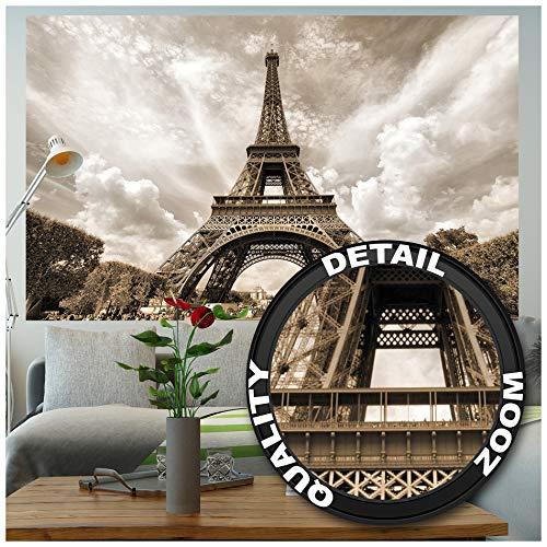 GREAT ART® XXL Poster – Eifelturm – Wandbild Dekoration Frankreich Hauptstadt Paris Sehenswürdigkeit Wahrzeichen Eiffel Tower Aussichtsturm Wandposter Fotoposter Wanddeko Bild (140 x 100cm)