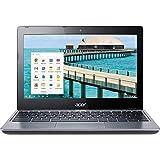 Acer Chromebook NX.SHEAA.007 Intel Celeron 2955U X2 1.4GHz 2GB 32GB,Gray(Renewed)