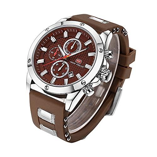Wrist watch Reloj Deportivo Luminoso para Hombre. Reloj Informal De Negocios Formal Analógico De Cuarzo Impermeable