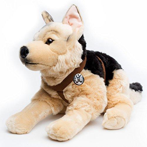 Kuscheltiere.biz - Perro pastor alemán con arnés (62 cm)