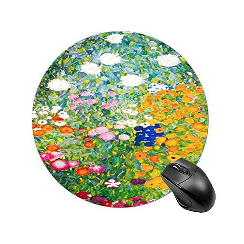 Podkładka pod mysz do gier Gustav Klimt kwiat ogród projekt na biurko i laptopa 1 opakowanie podkładka pod mysz w kształcie serca