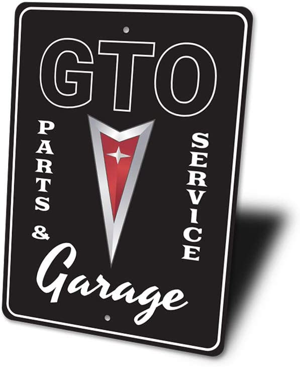 10 x 14 Garage Parking Decor GTO Parts and Services Sign GTO Service Station GTO Garage Wall Decor