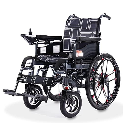 wheelchair Silla de Ruedas eléctrica portátil con Silla de Ruedas Plegable Multifuncional para Ancianos Scooter Inteligente para discapacitados
