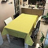 XXDD Mantel de Lino Decorativo a Rayas a Cuadros Rectangular Impermeable Boda Mesa de Comedor Cubierta Mantel de Cocina A4 150x210cm