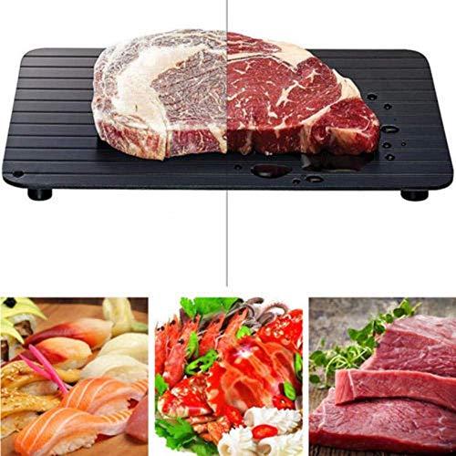 Auftauplatte Schnelles Auftautablett Auftauen Von Tiefkühlkost Fleisch Obst Schnelles Auftauen Tellerbrett Abtauen Küchengerät -23-23X16 5X0 2Cm