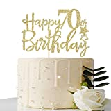 The cake topper made of cardboard. 70th birthday party decoration design The perfect decoration of your cake can also be used as a studio prop. Celebrate the anniversary or birthday, beautiful cakes make your party perfect. Add luster to your birthda...